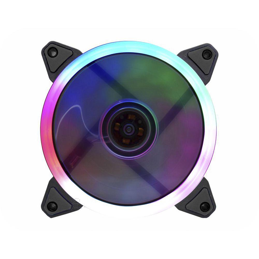 Cooler Gamer K-mex Double Ring AF-R1225 LED 5 Multicores 120mm