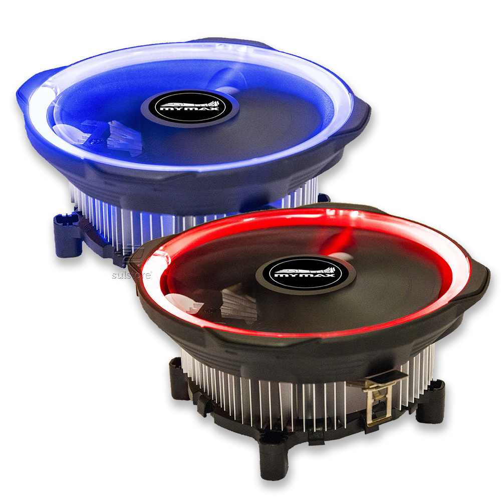 Cooler Gamer para Processador Intel e AMD Universal Fan Grande 12cm Socket Mymax com LED