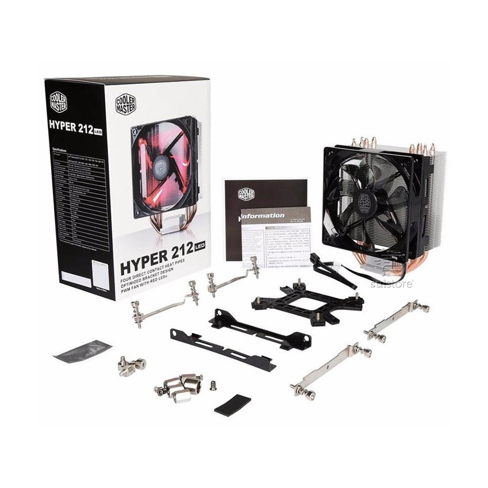 Cooler Master Fan Hyper 212 LED Vermelho para Processador Intel e AMD