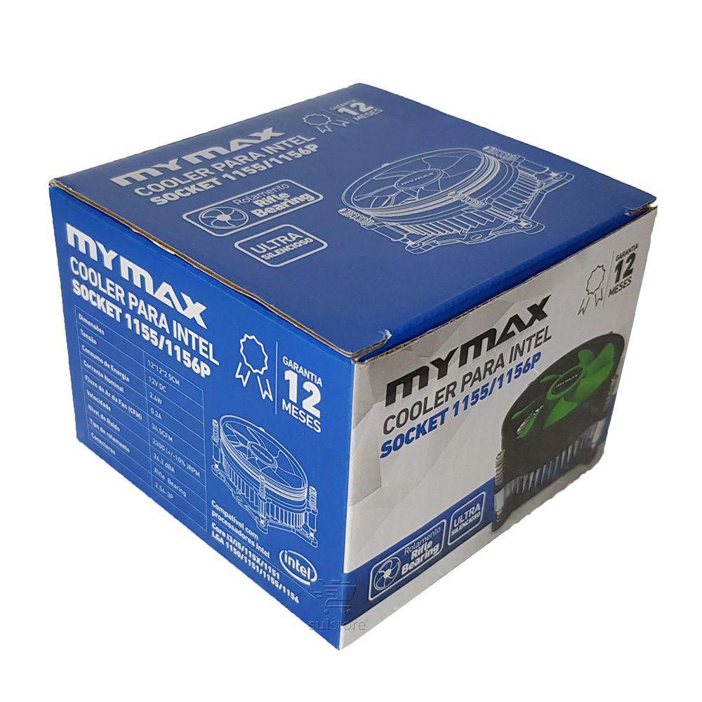 Cooler para Processador Intel Socket LGA 1150 1151 1155 e 1156 Mymax com Dissipador MYC/TX900-OR