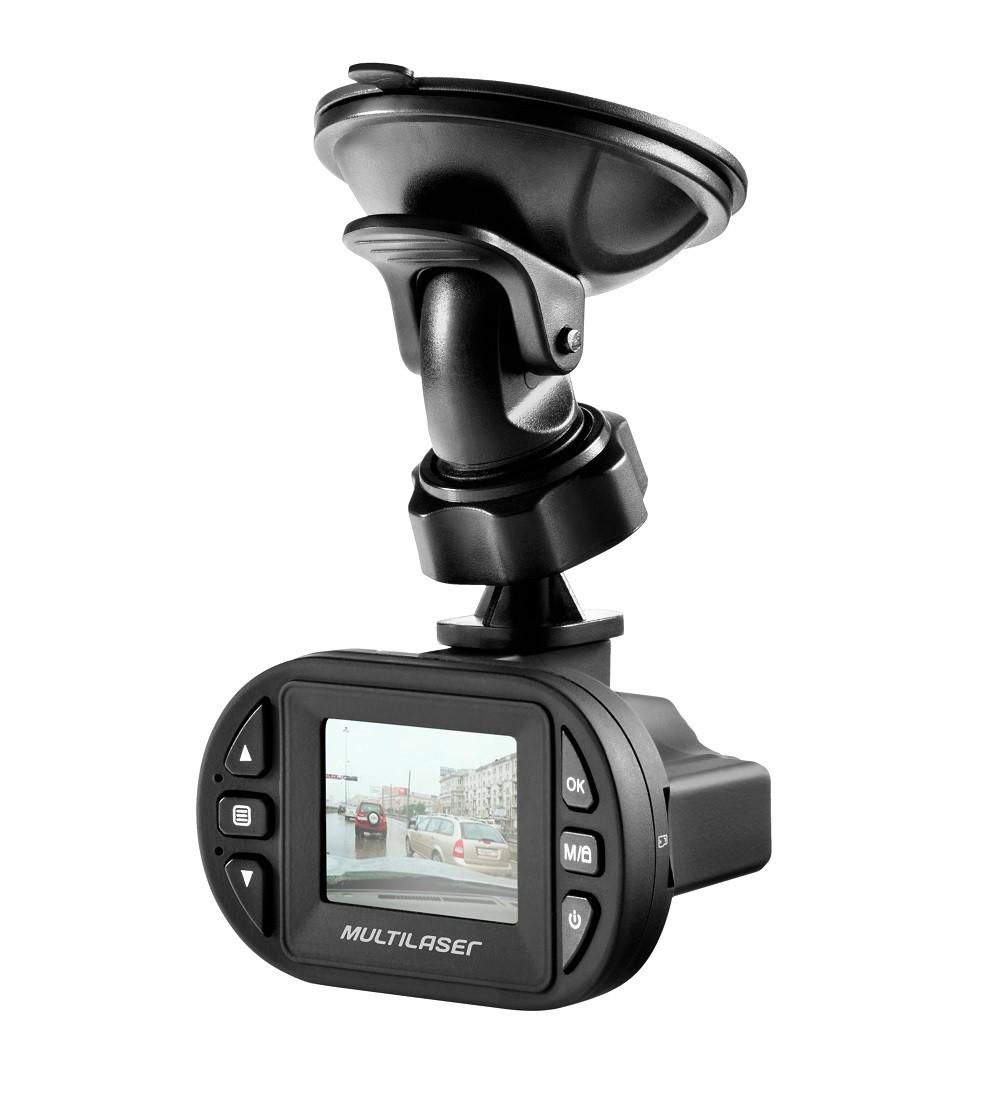Câmera Filmadora Full HD 1080p Automotiva Veicular Preta Multilaser AU013