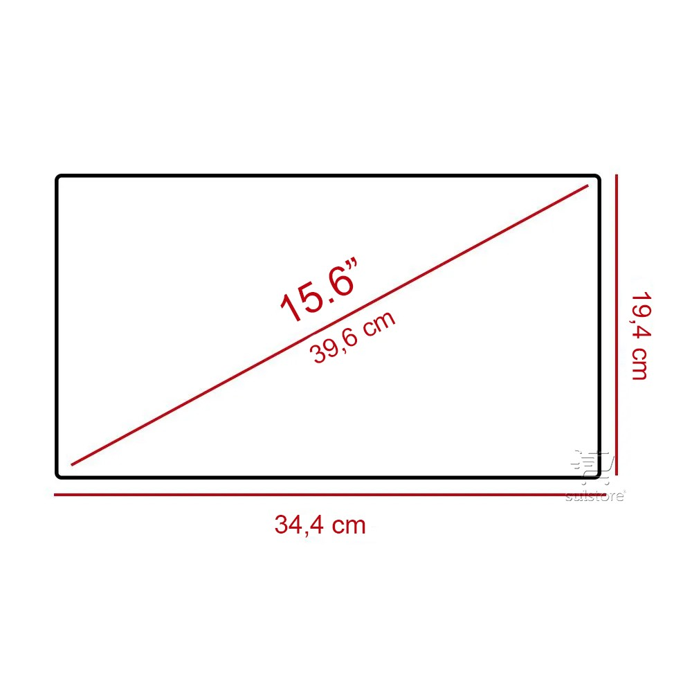 Filtro de Privacidade Para Notebook De 15,6 Polegadas Wide 34,4cm x 19,4cm
