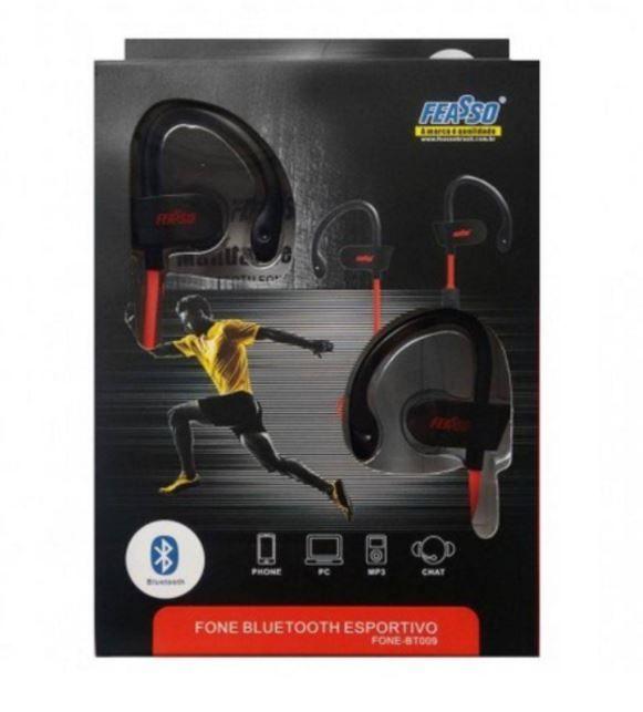 Fone De Ouvido Bluetooth Sem Fio Gancho Esportivo Bt009 Feasso