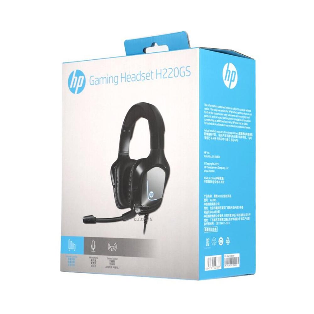 Fone de Ouvido Headset Gamer 7.1 USB com Microfone HP H220GS Preto
