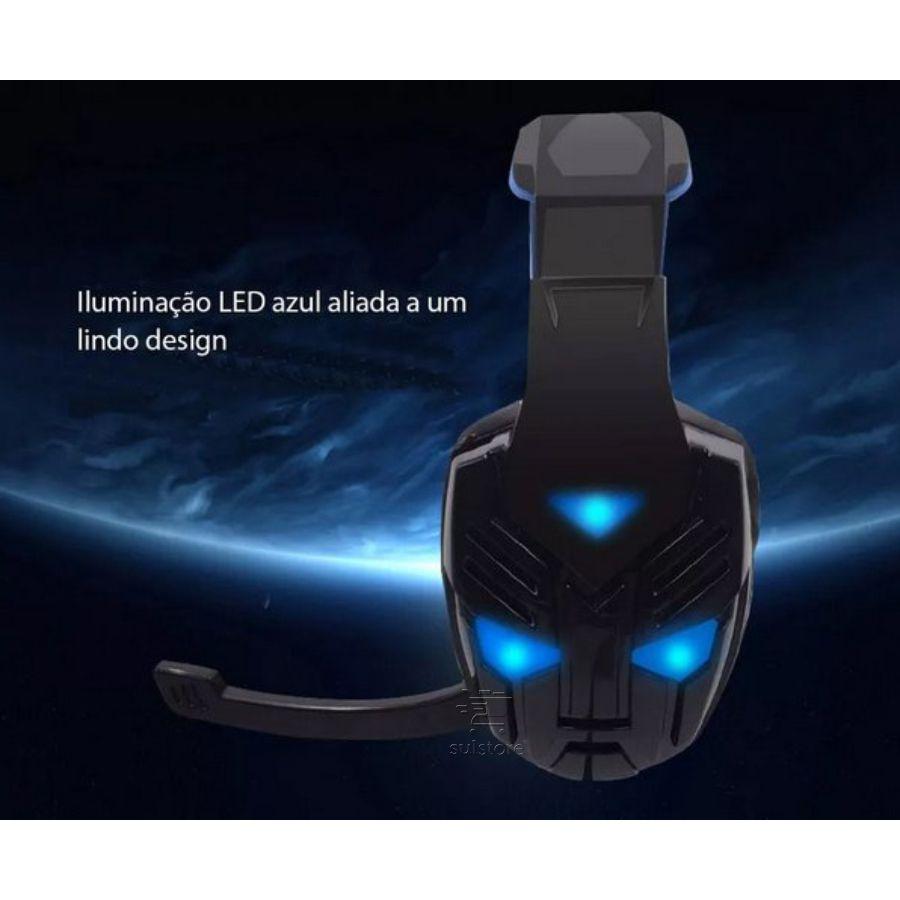 Fone Headset Gamer FONE-708 Feasso P2 Com Vibração Para Jogos