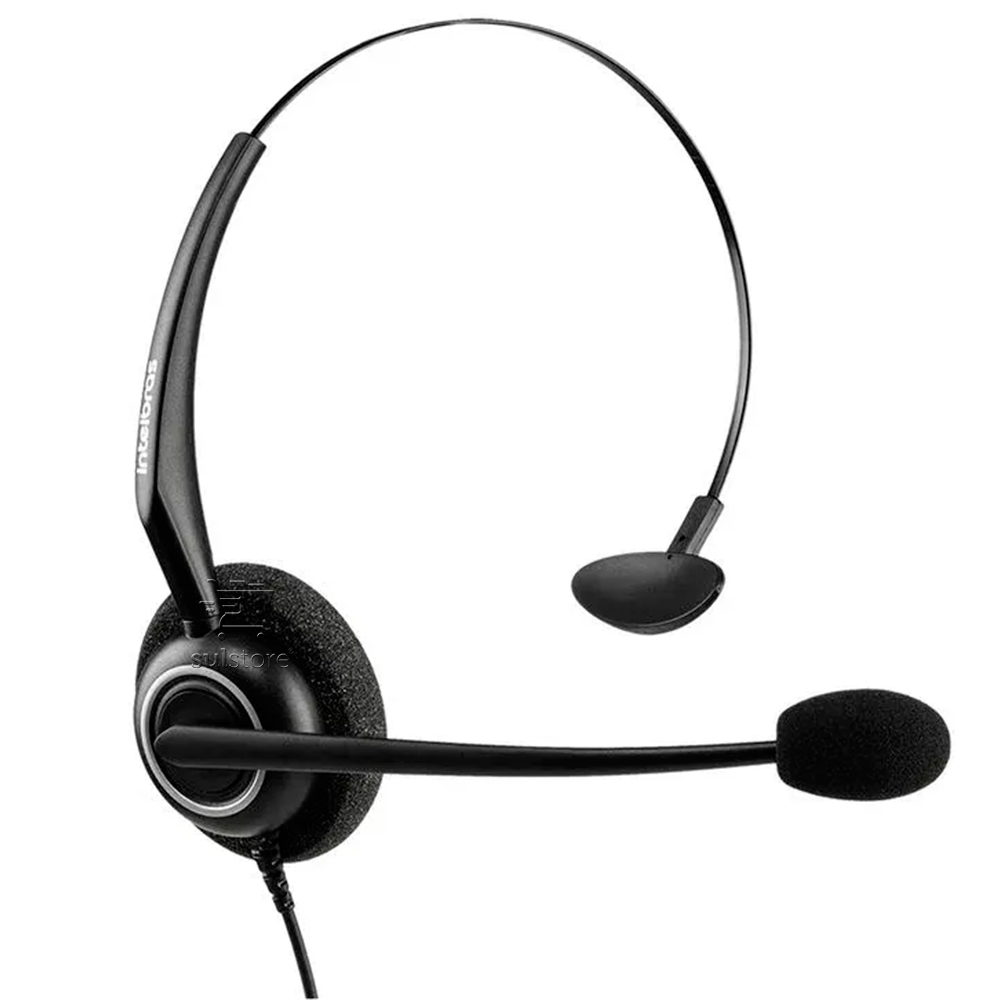 Fone Para Telemarketing Call Center Intelbras Headset Tiara Chs55 RJ9 Preto
