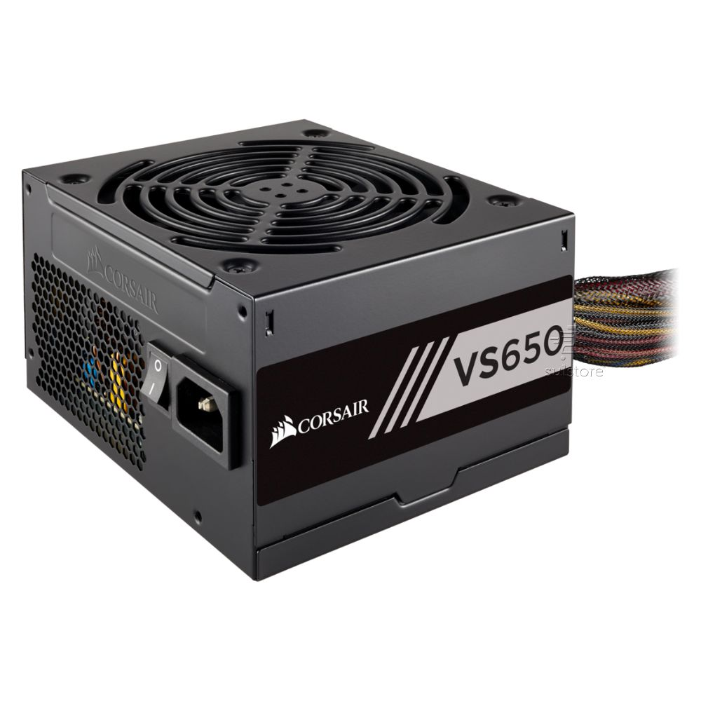 Fonte Gamer Corsair Vs650 650w Reais 80 Plus PFC Ativo