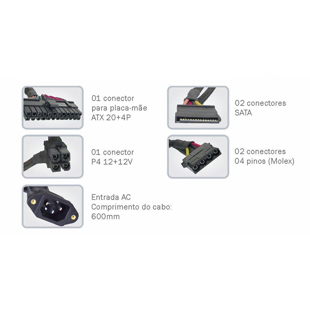 Fonte Kmex PP-200RNG SFX 200w Gabinete Gm-9i8a 9g8a 9f8a
