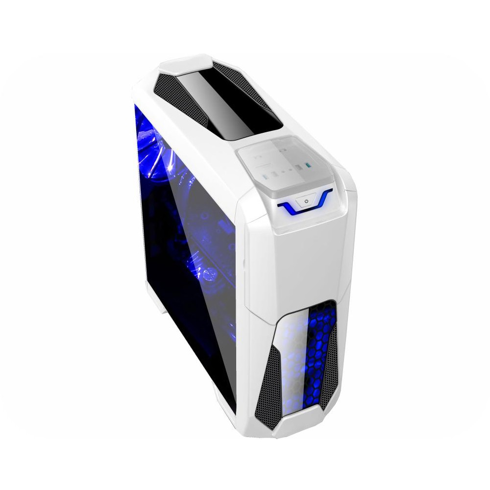 Gabinete Branco Gamer Kmex Big Hero CG-03T8 Lateral Acrílico LED Azul