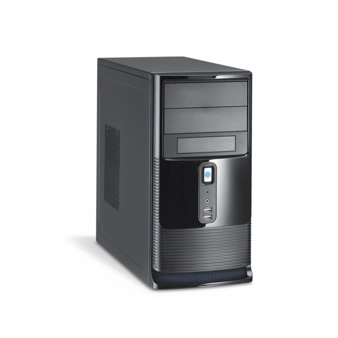Gabinete Micro ATX Black Piano Kmex CM-9527 Com Fonte 300W 2 Baias