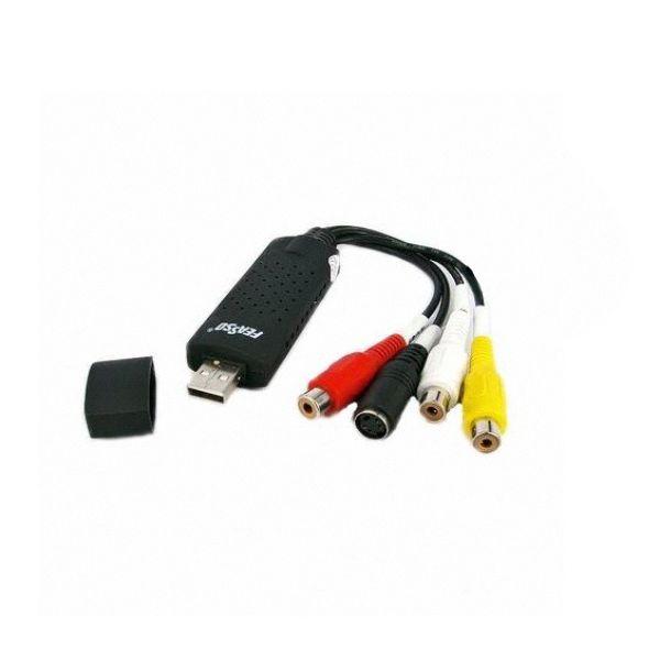 Gravador Conversor de Áudio e Vídeo RCA / S-Video para USB Feasso FUV-AV1 Converta VHS
