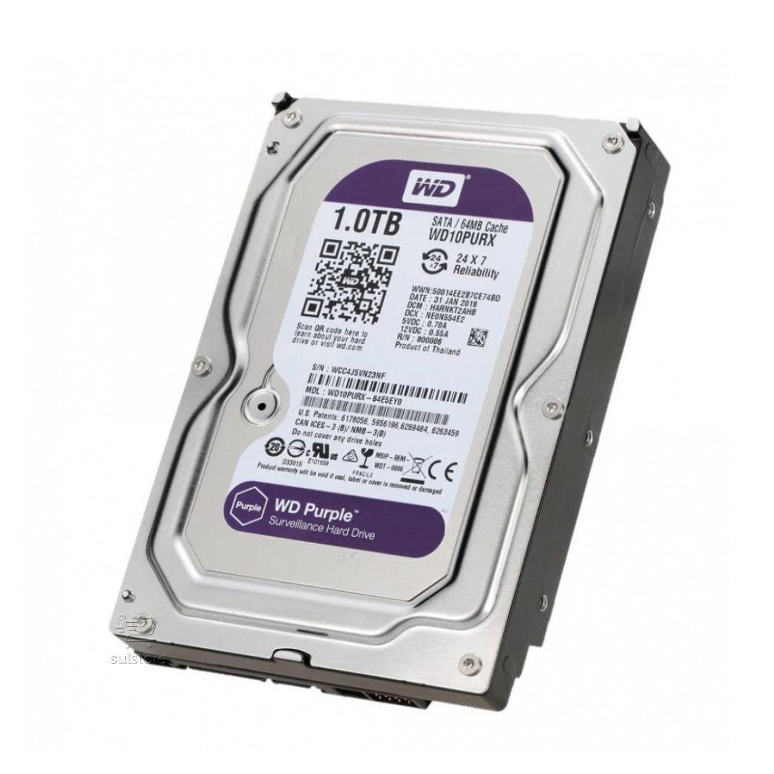HD 1TB Purple WD10PURZ Western Digital Sata Intelbras WD CFTV DVR Para Câmeras