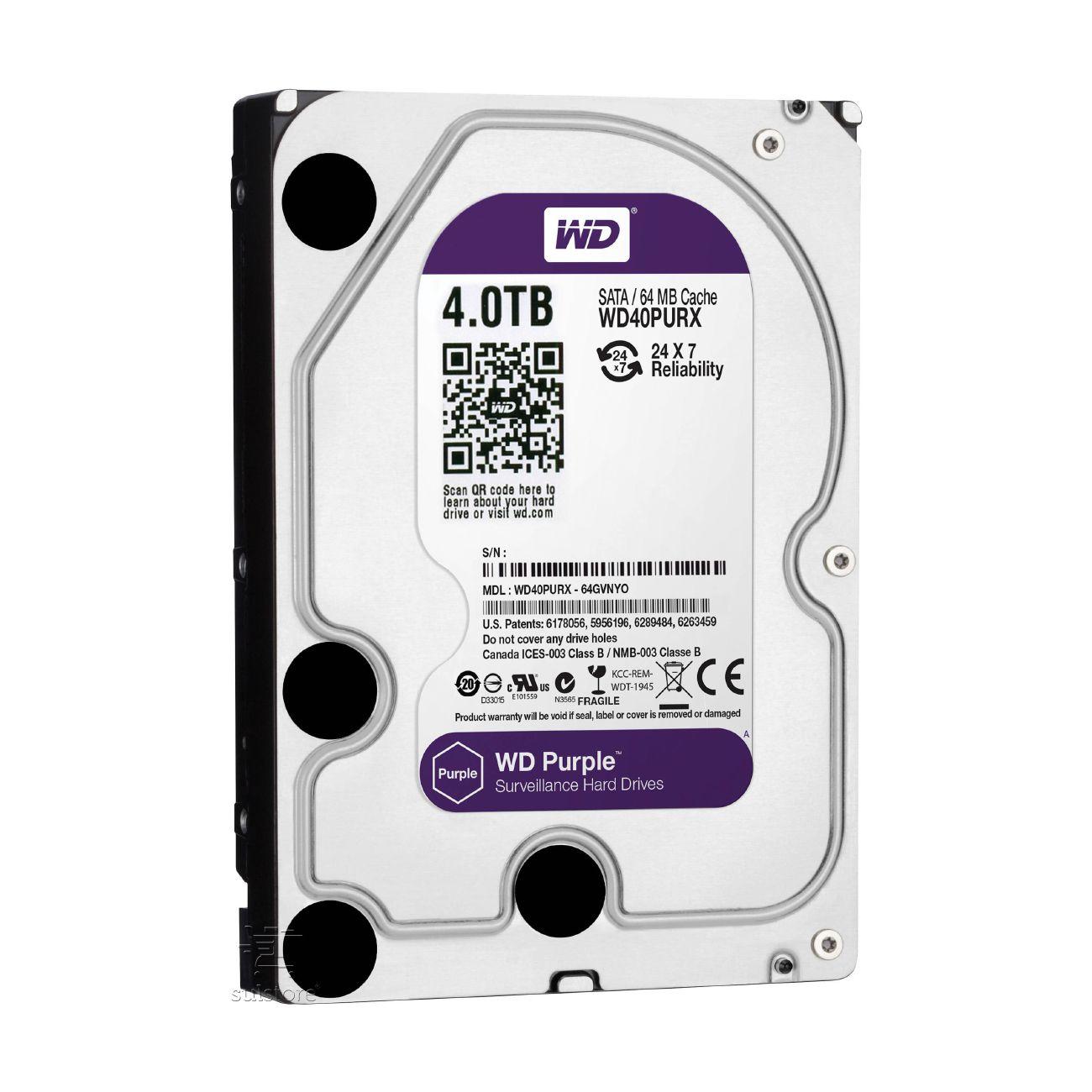 HD 4TB Purple WD40PURZ Sata Western Digital Intelbras WD CFTV DVR Para Câmeras