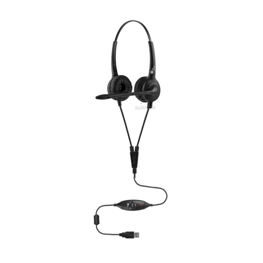 Headset Biauricular Controle de Volume no Cabo Top Use FP 350 Premium USB
