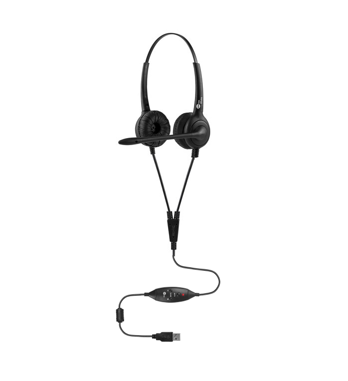 Headset Biauricular Controle de Volume no Cabo Top Use FP 350 Premium USB