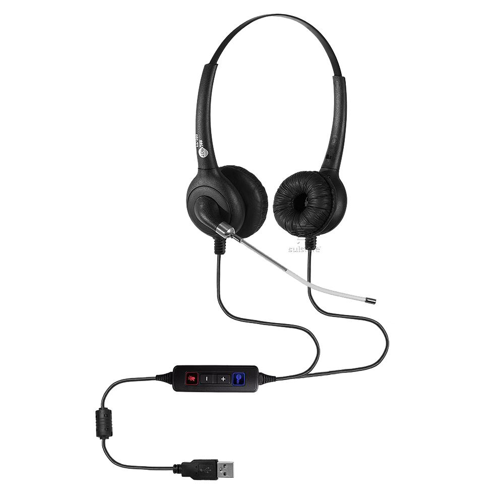 Headset Biauricular Controle de Volume no Cabo Top Use FP 360 Premium USB