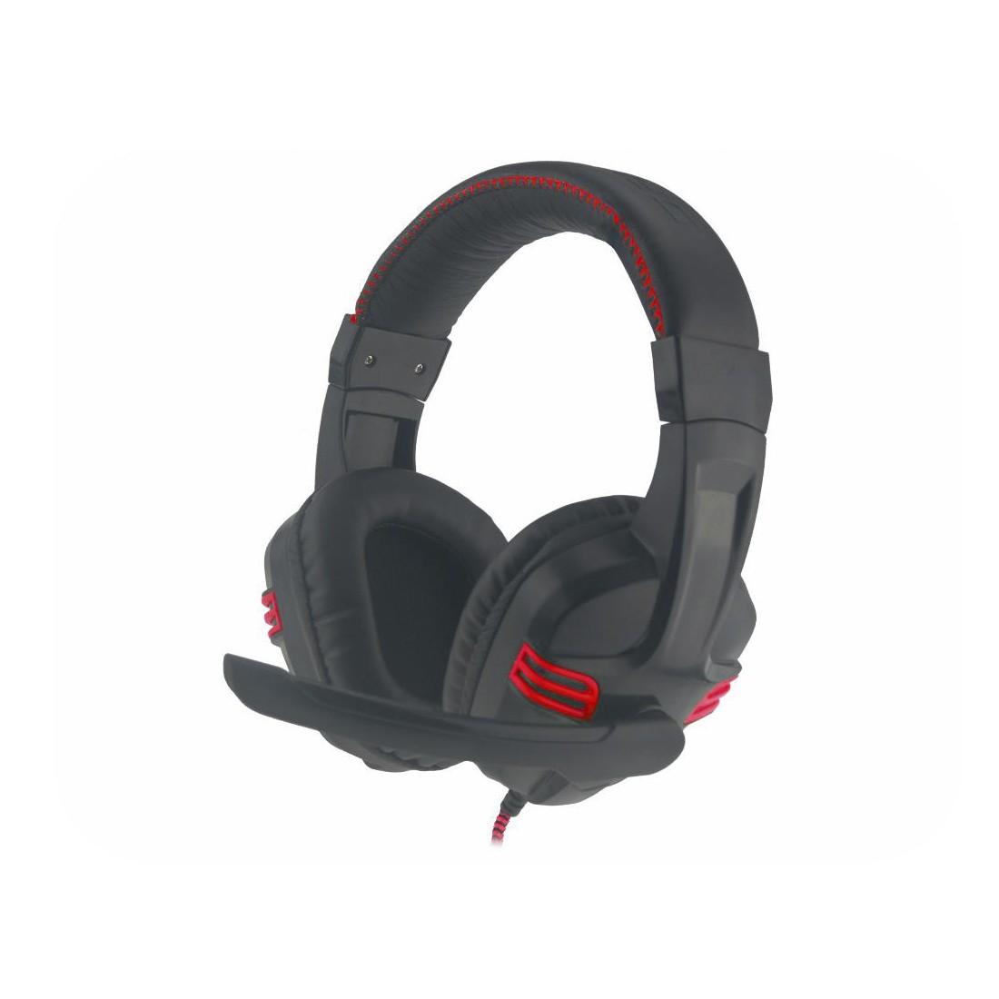 Headset Gamer Kmex ARS-1080 Preto com Vermelho Controle no Cabo