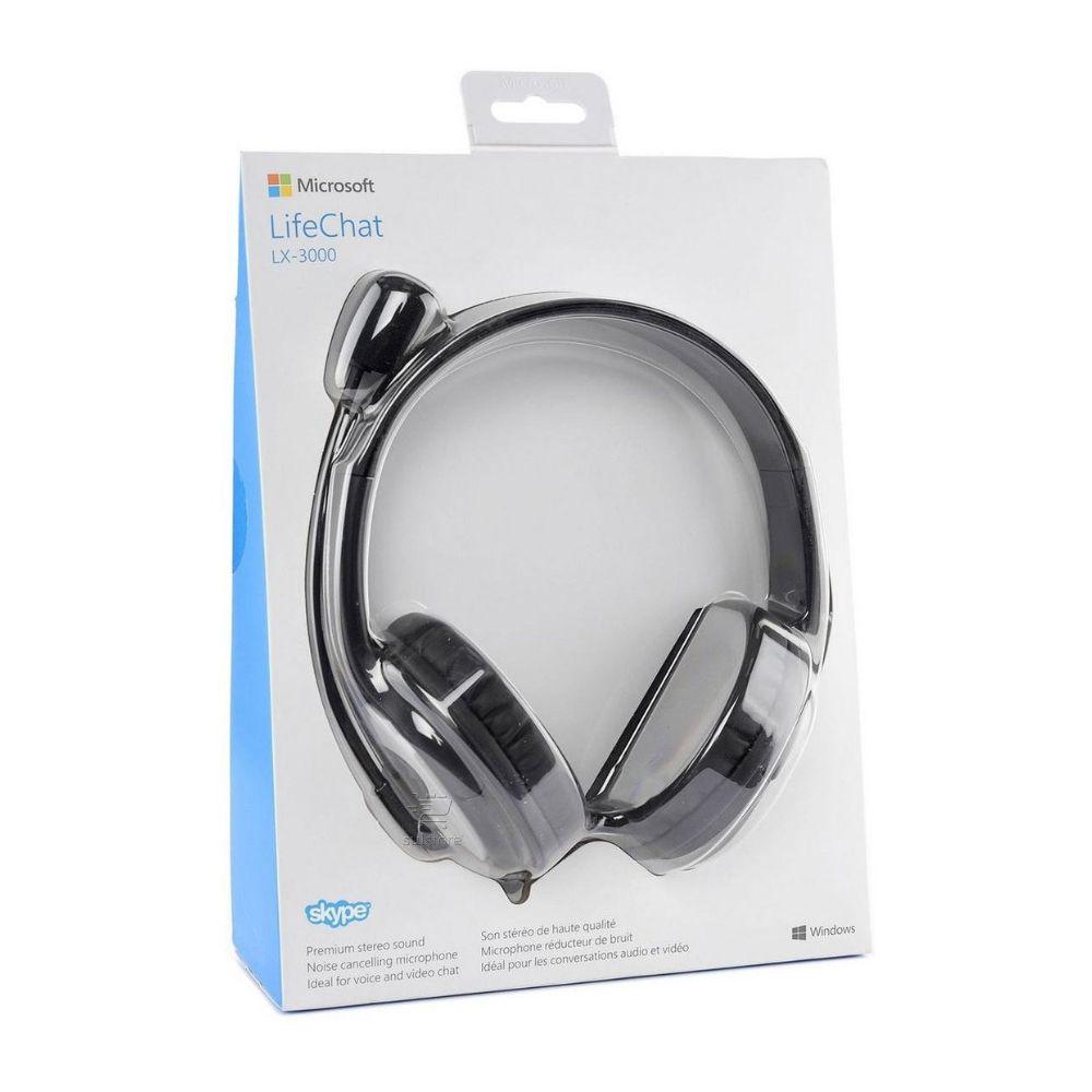 Headset Microsoft Lifechat LX-3000 USB JUG00013 Com Microfone