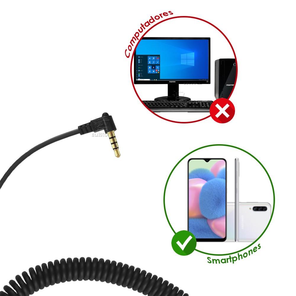 Headset MonoAuricular HTU-310 P2 P3 4 Vias para Celular Smartphone 1 Único Plug Top Use