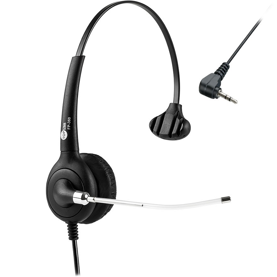 Headset MonoAuricular P1 Com Tubo de Voz FP 360 Premium Top Use