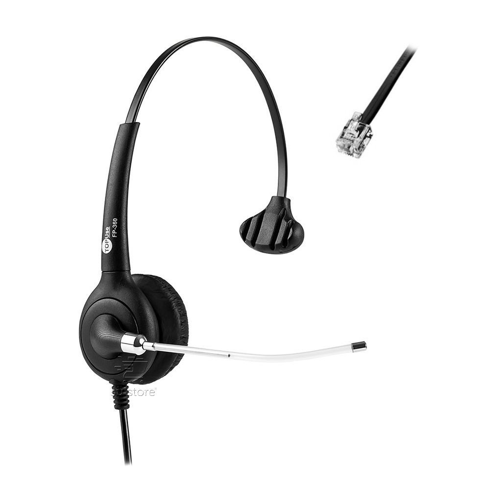 Headset MonoAuricular RJ9 FP-360 Courino Premium Top Use Posição Normal