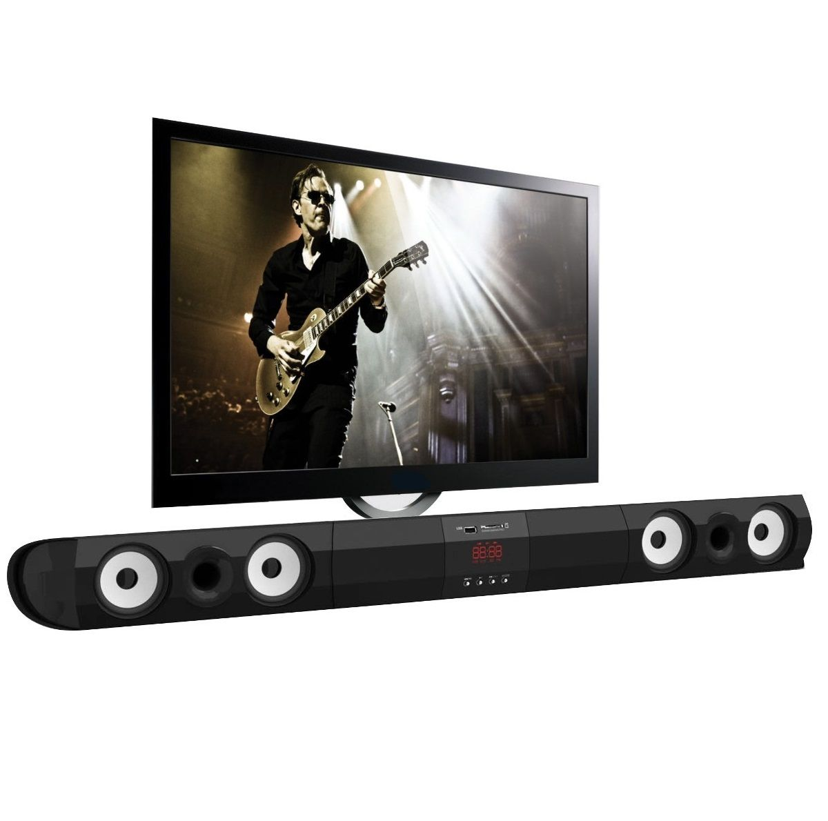 Home Theater Soundbar Entrada USB SD TV 50w RMS SR-M100 Kmex
