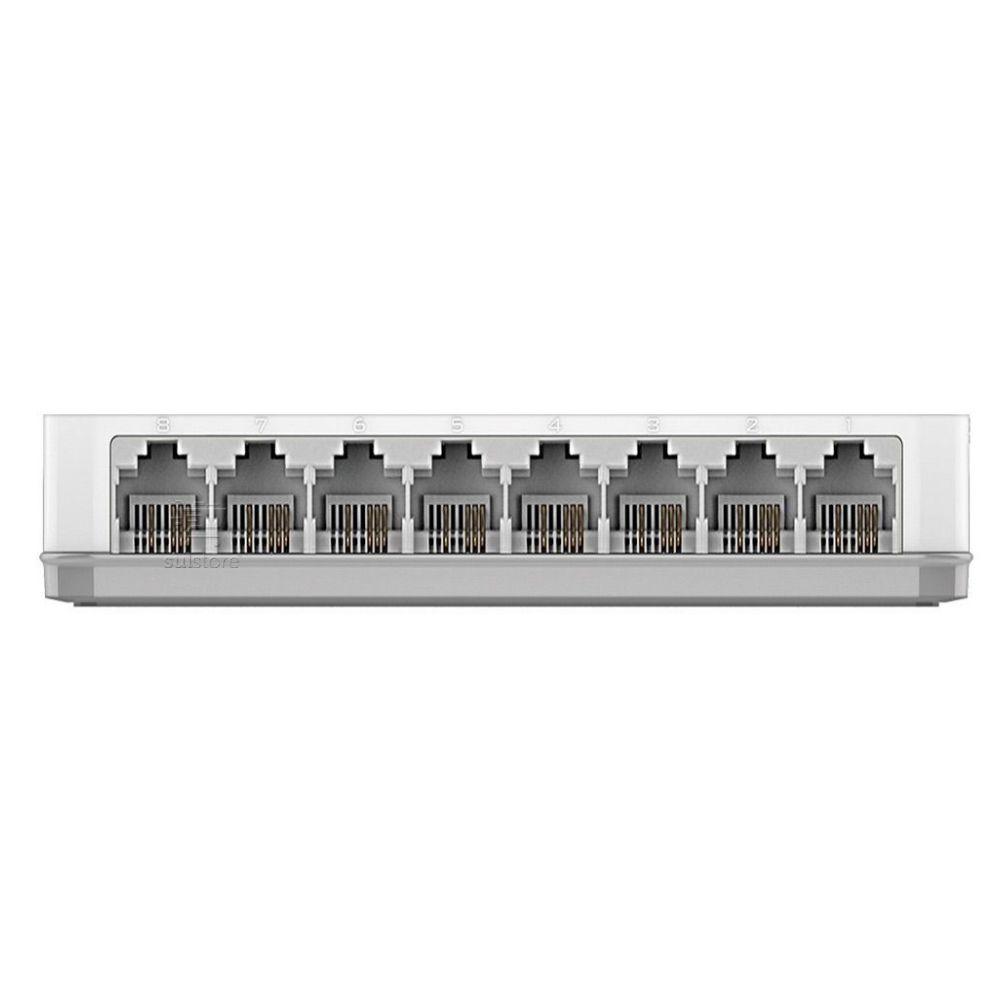 HUB Switch 8 Portas D-Link DES-1008C 10/100mbps Branco