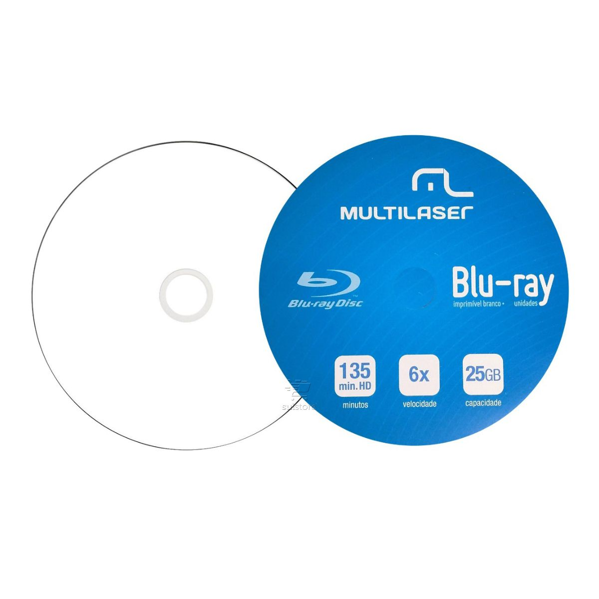 Kit Gravador Leitor Asus SBW-06D2X-U e Mídias Virgens DVD/CD Bluray Multilaser