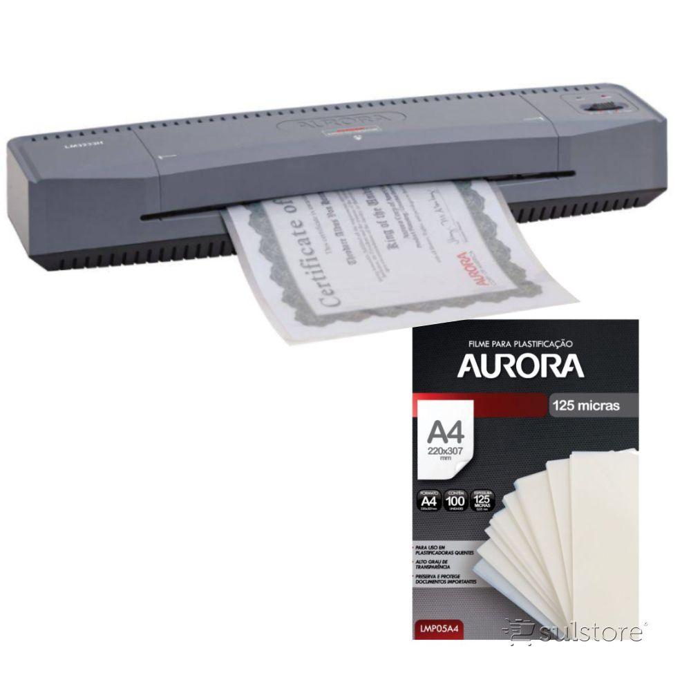 Kit Plastificadora Aurora + Polaseal A4