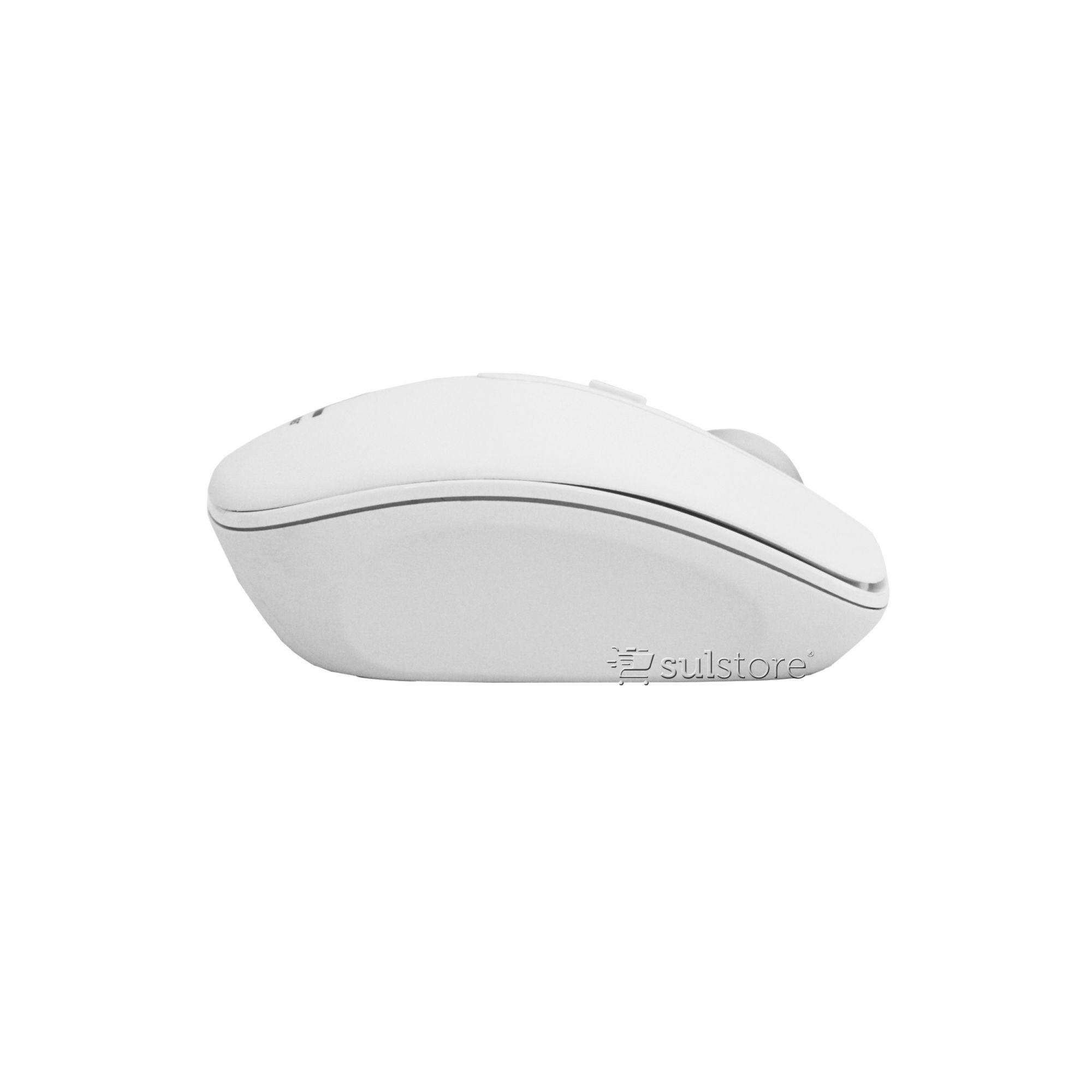 Kit Teclado E Mouse Branco Sem Fio Slim Multilaser Tc203 2.4Ghz