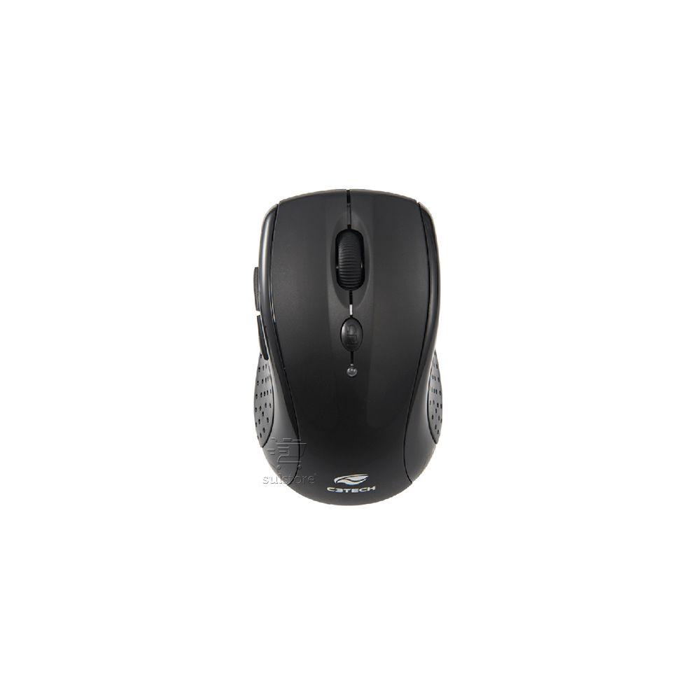 Kit Teclado e Mouse Sem Fio Wireless C3 Tech K-W50BK Com Teclas Especiais