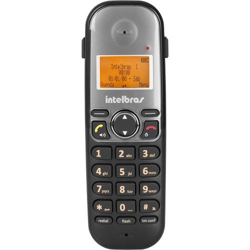 Kit Telefone Sem Fio Intelbras TS5120 + Fone Headset P1 TopUSE Mono Auricular FP360