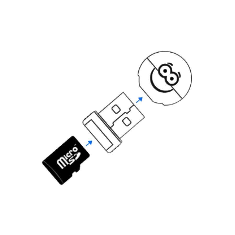 Leitor De Cartão De Memória Micro Sd Usb Serve Como Chaveiro Comtac 9203 R.02