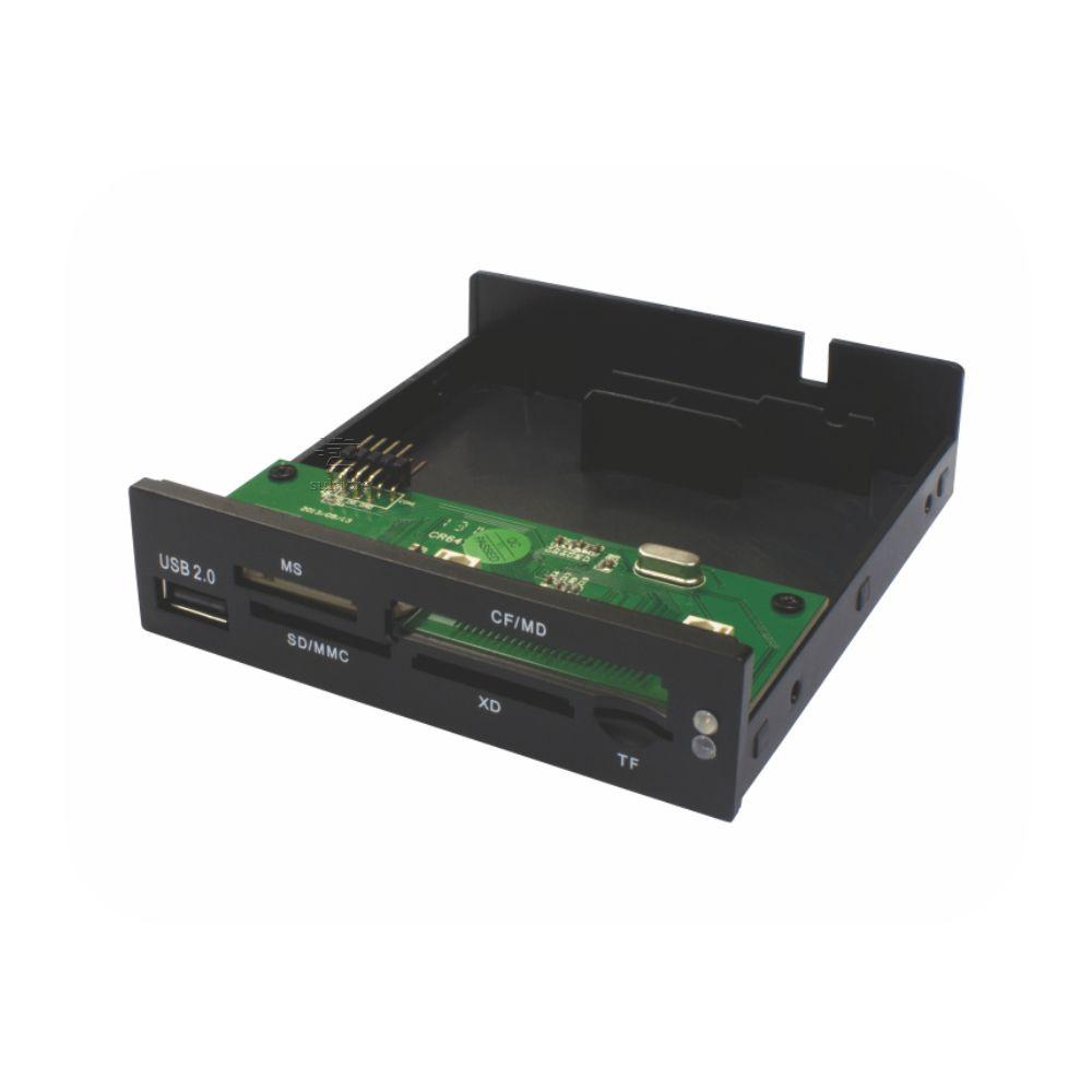 Leitor De Cartões De Memórias Interno AC-IF3221 K-Mex Com USB Para Desktop Preto Fosco