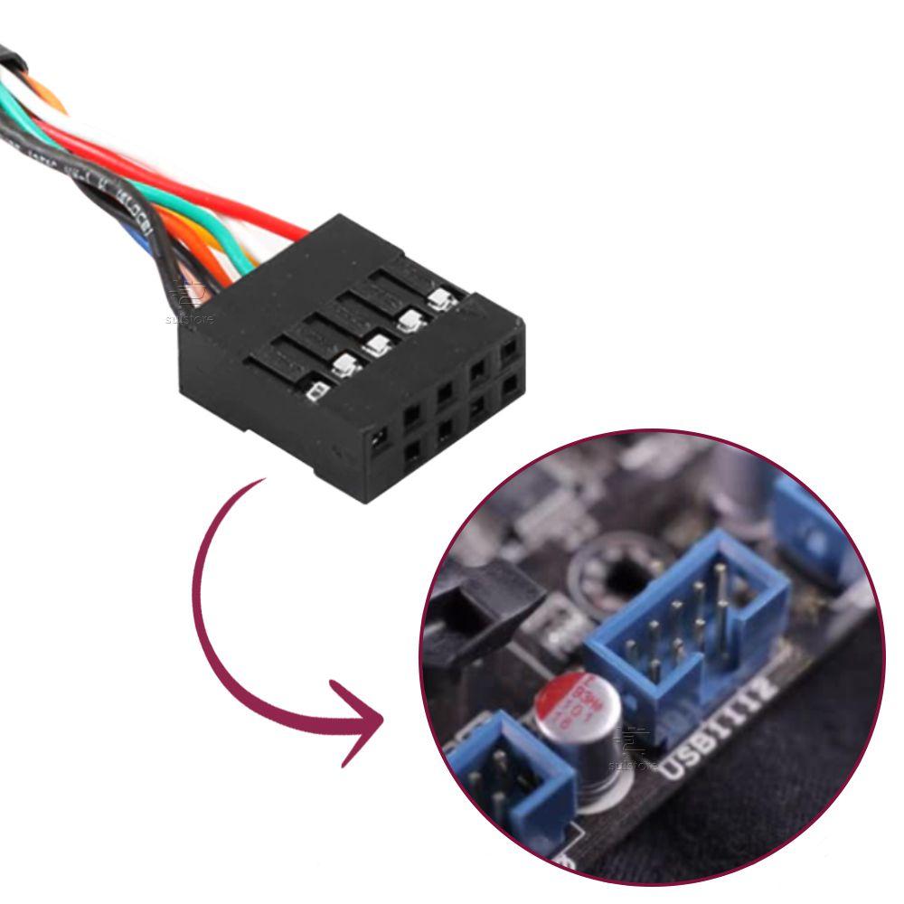 Leitor De Cartões De Memórias Interno K-Mex AC-I83221 Com USB Para Desktop Black Piano
