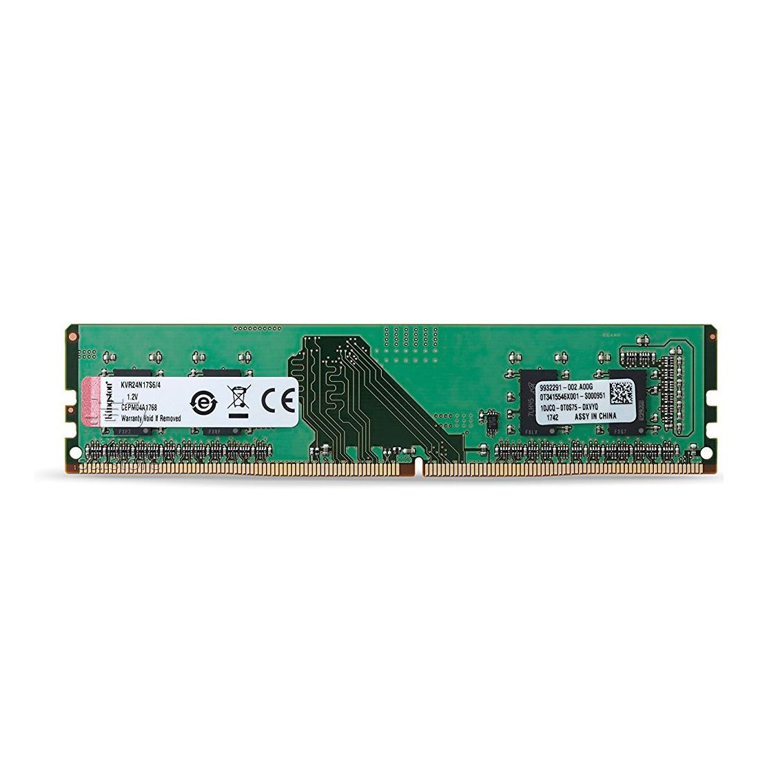 Memória Kingston 4GB 2400mhz DDR4 CL17 KVR24N17S6/4 1.2 Volts Para Desktop