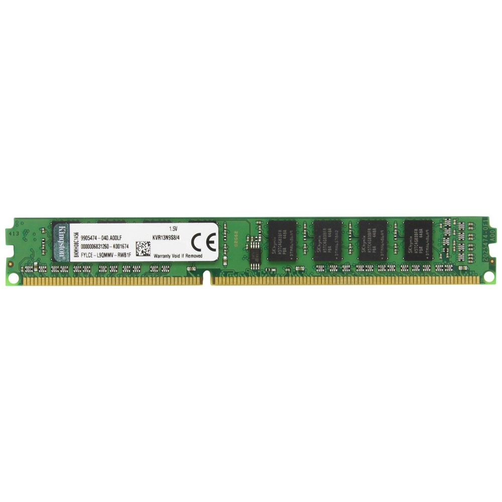 Memória Kingston Ddr3 4Gb 1333Mhz KVR13N9S8/4 Para Computador Desktop