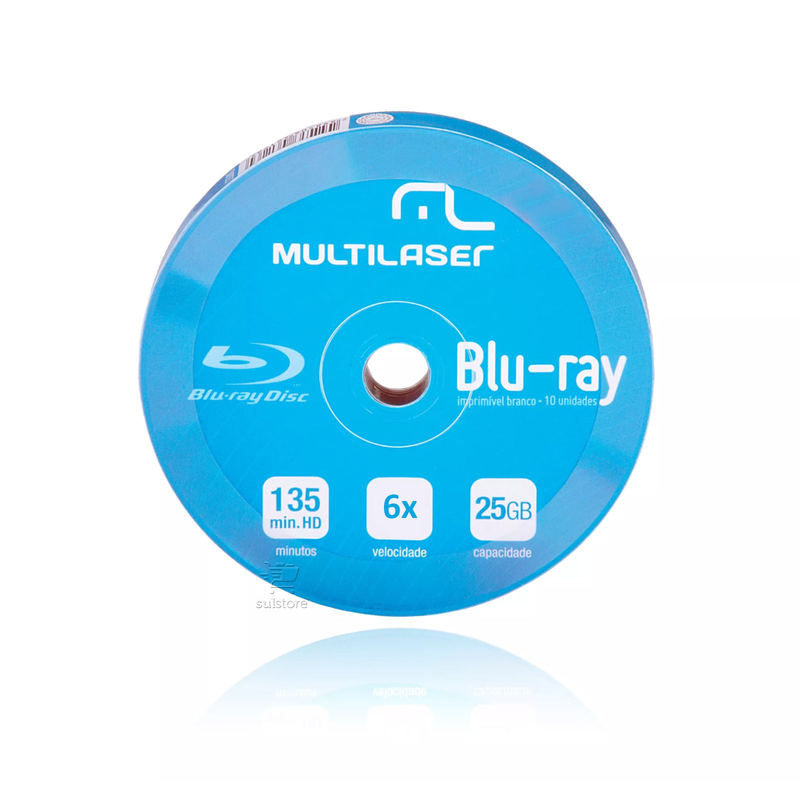 Mídia Virgem Blu-ray Shirink Multilaser 6x Imprimível com 10 Unidades DV057