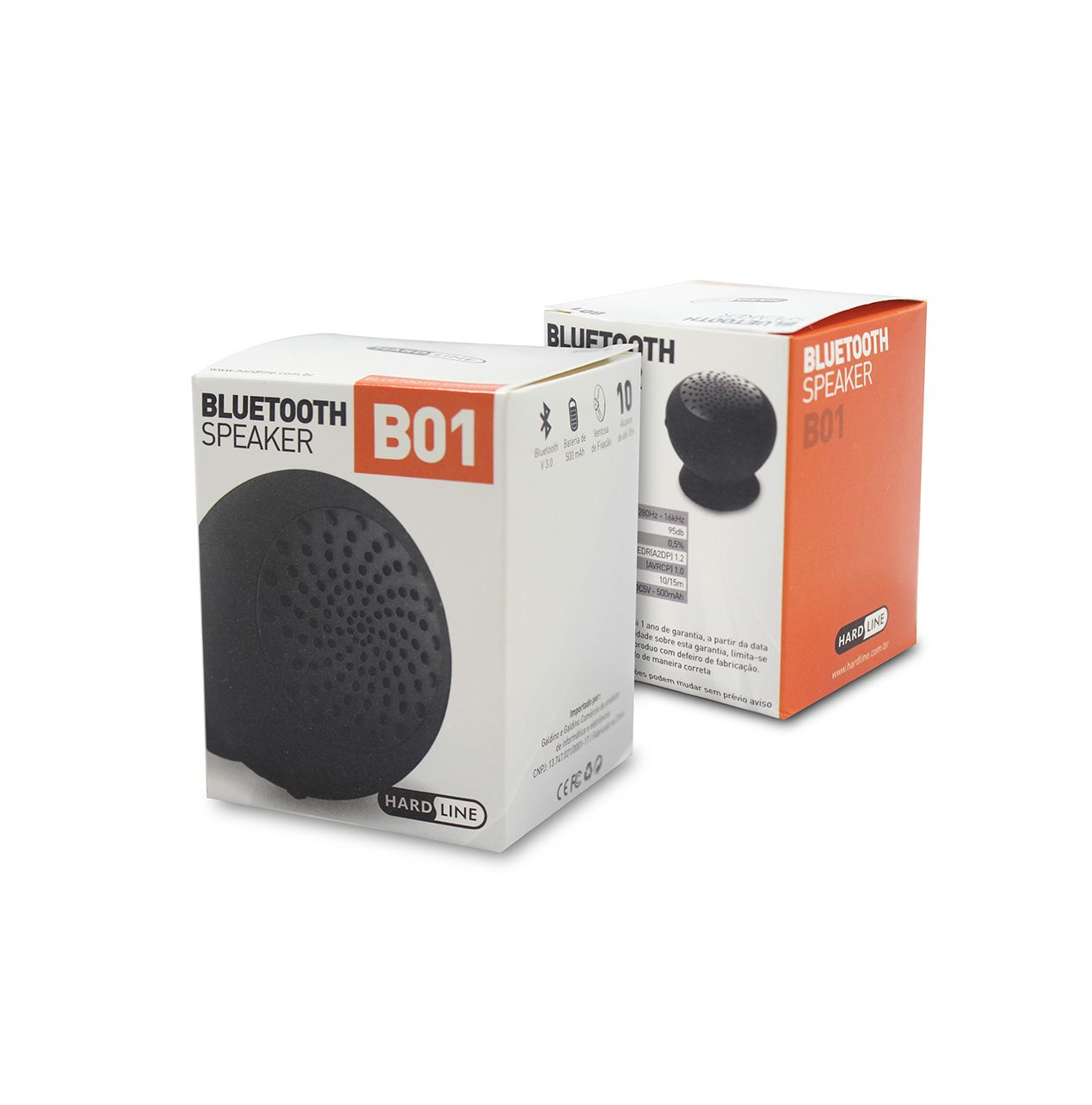 Mini Caixa de Som Speaker Bluetooth Portátil HardLine B01