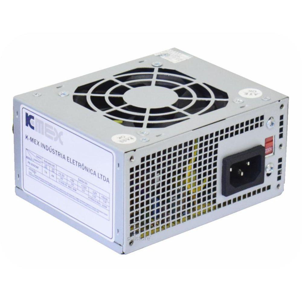 Mini Fonte Kmex PB-200CNF 200w Conector de Energia em L