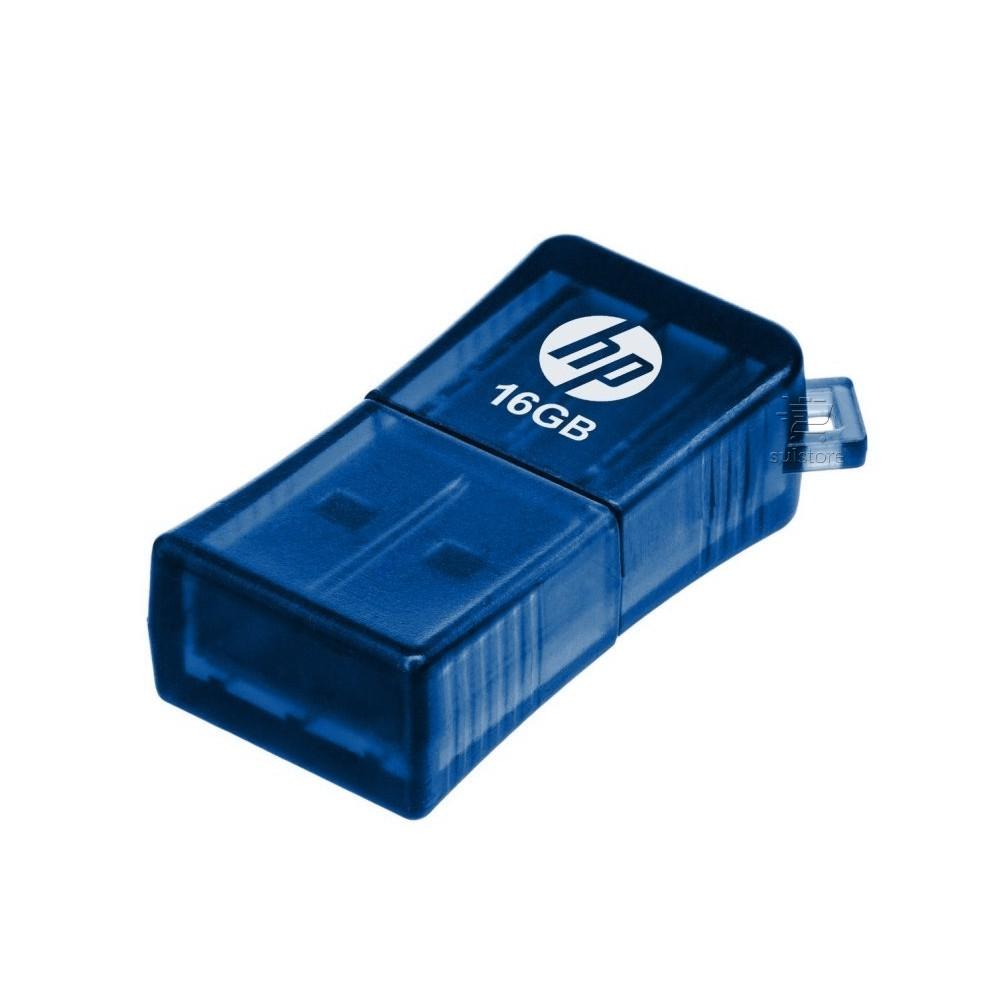 Mini Pen Drive HP 16gb V165w USB 2.0 Azul