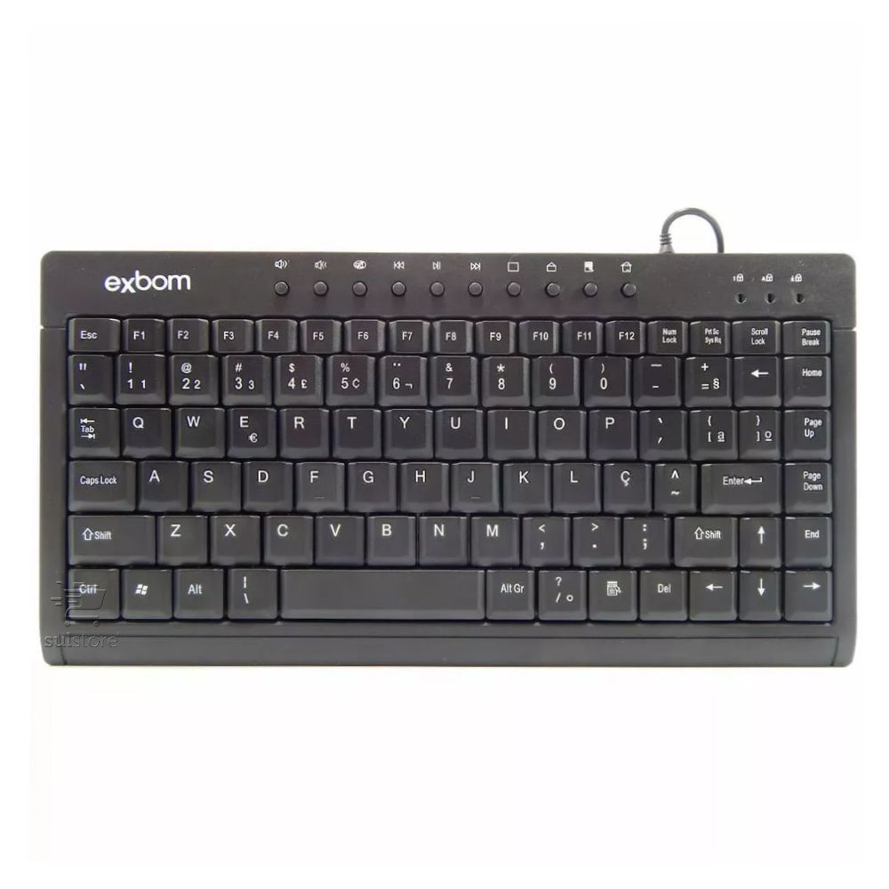 MIni Teclado USB Multimidia Para Computador ou Notebook BK-M57 Exbom