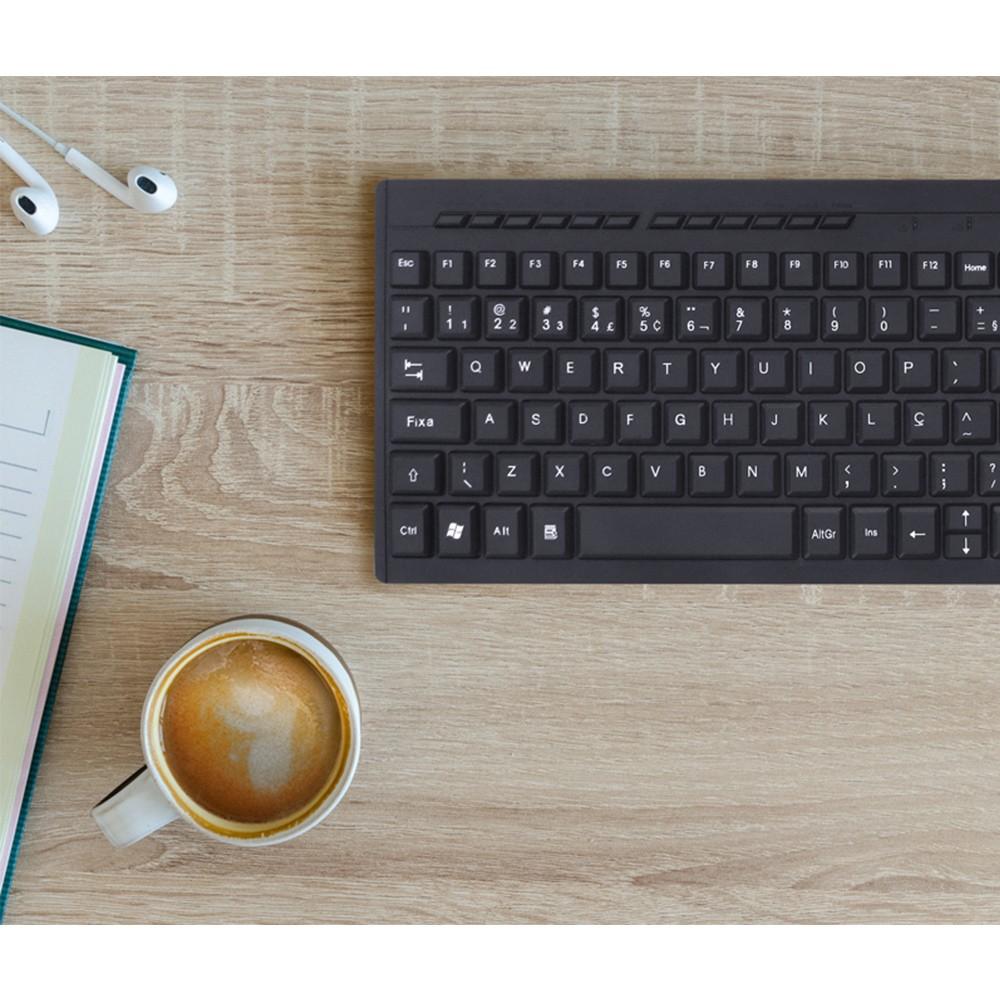 Mini Teclado USB Slim Dynamic Flat Multimidia Para Note e PC DT110 Vinik
