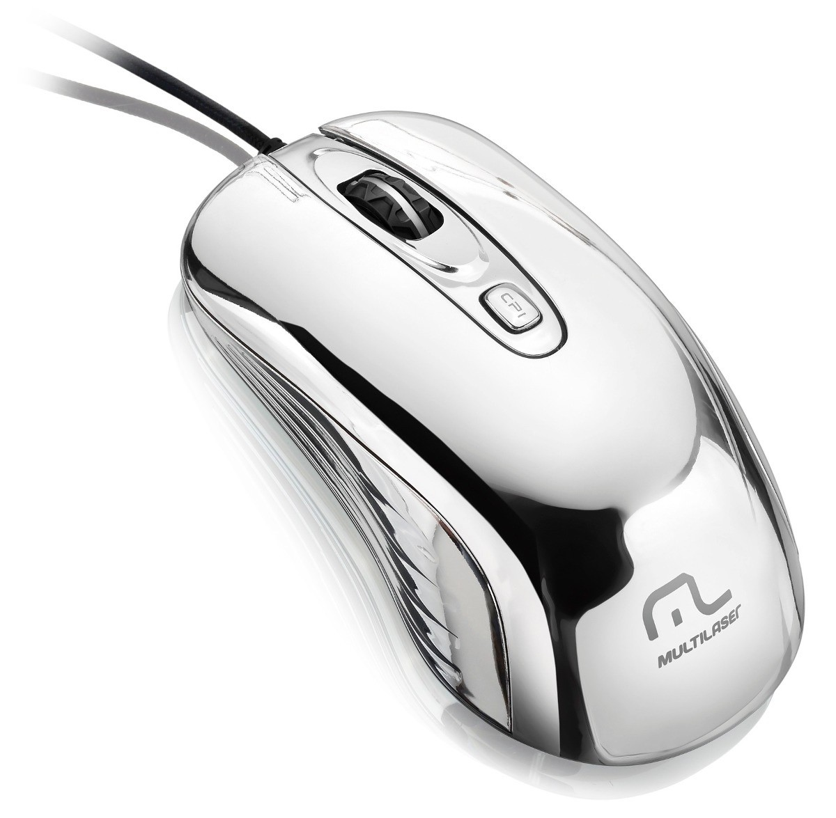 Mouse Gamer Cromado 7 Cores Warrior USB 1600Dpi Multilaser MO228