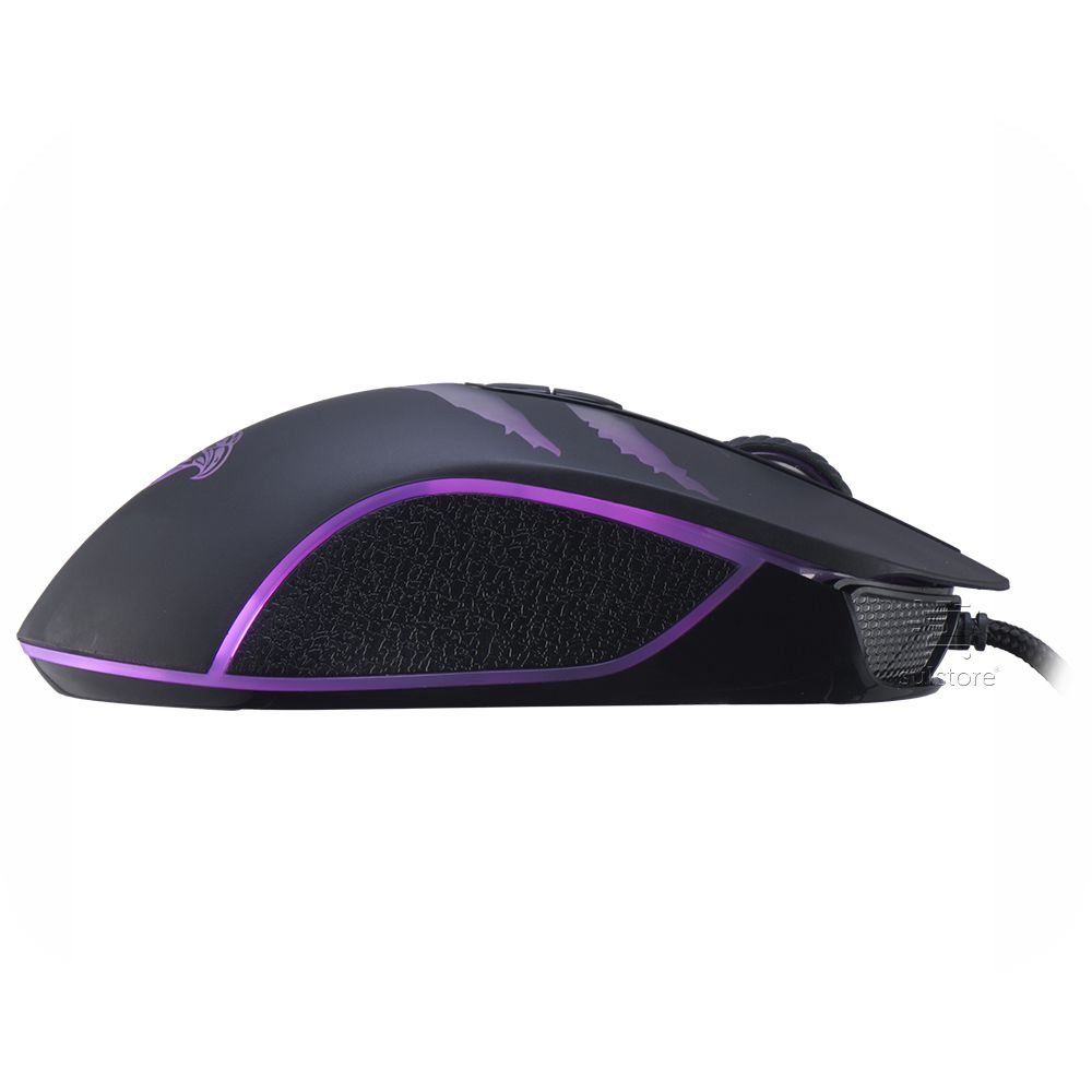 Mouse Gamer Moya37 LED RGB 3200 DPI 7 Botões Programáveis K-mex
