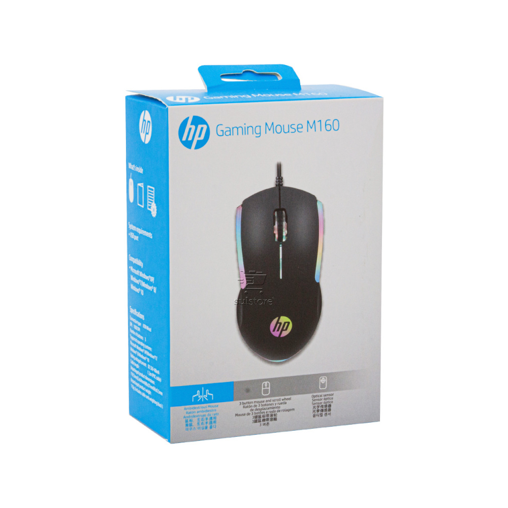 Mouse Gamer USB M160 HP Profissional Player Optico