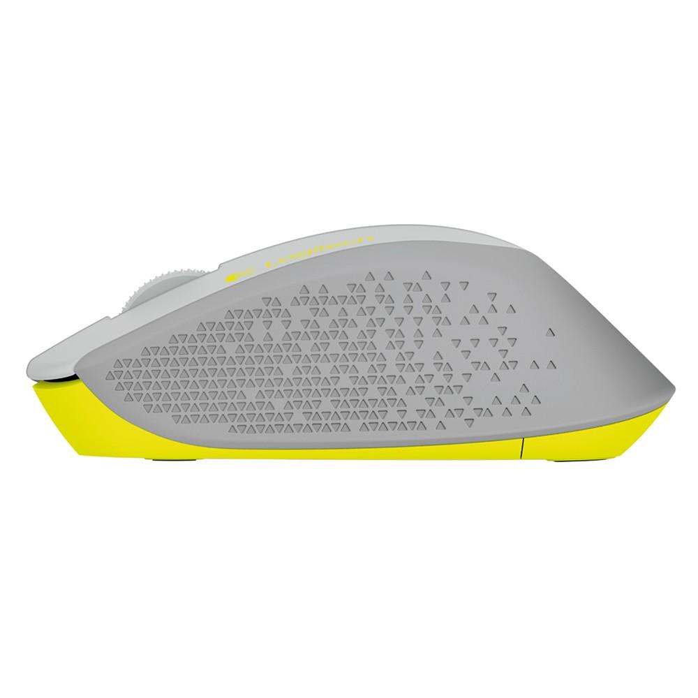 Mouse Logitech M280 Sem fio 910-004285 Wifi Cinza Design Curvado