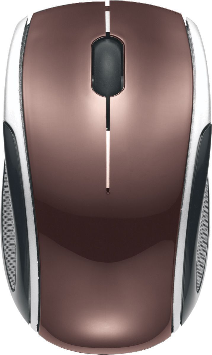 Mouse Óptico Sem Fio Wireless MAC333 K-Mex 2.4Ghz Marrom Chocolate