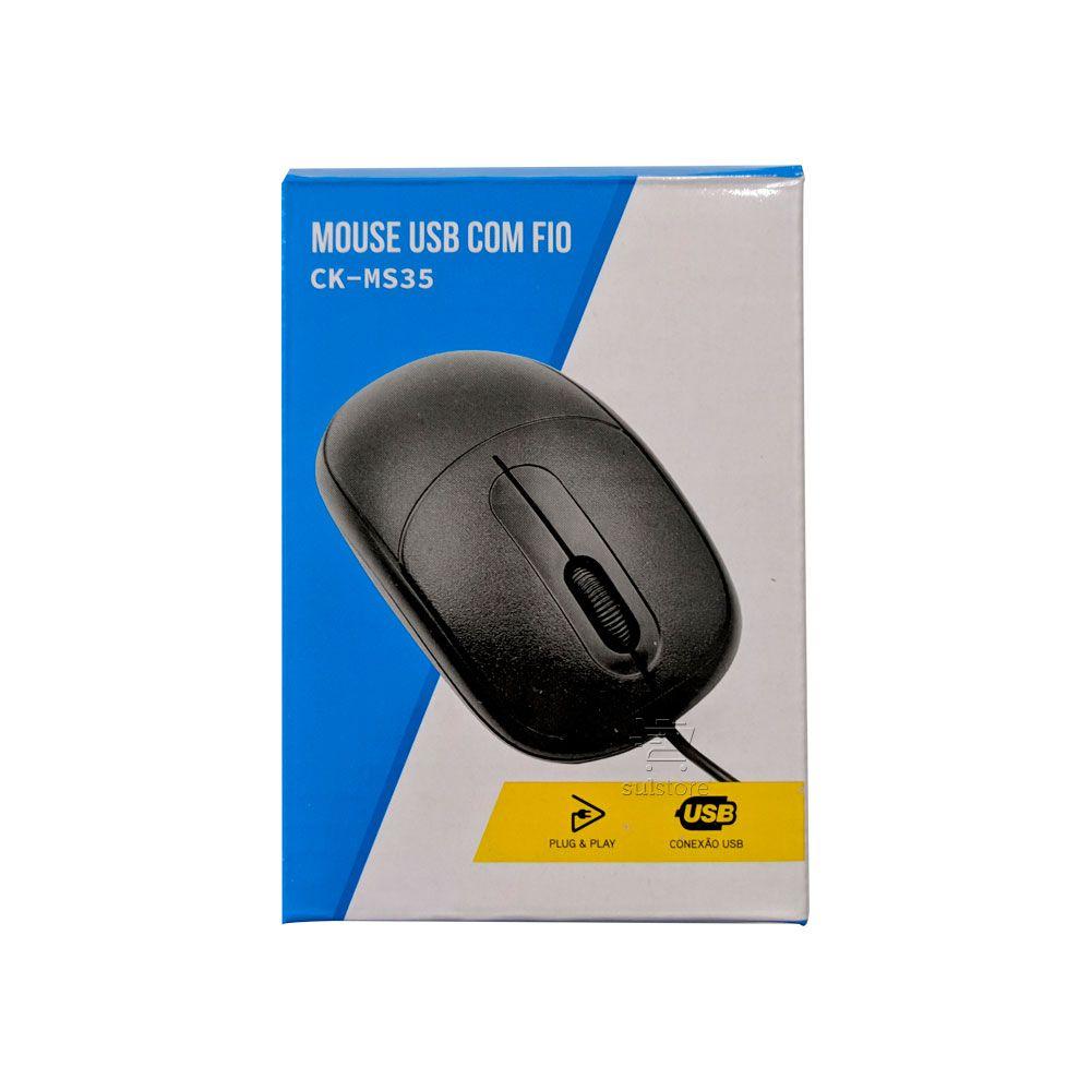 Mouse Óptico USB C3 Tech CK-MS35BK Preto