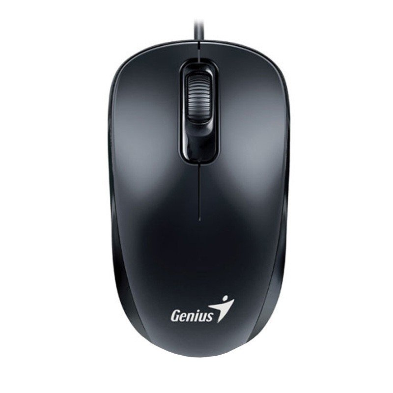 Mouse Óptico USB Genius Wired Preto DX-110